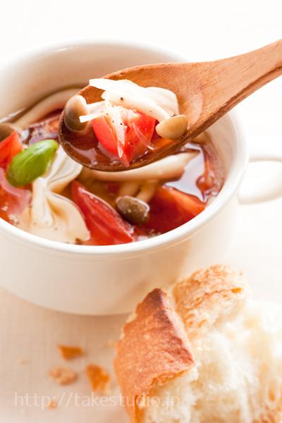 トマトとしめじのさっぱりスープ