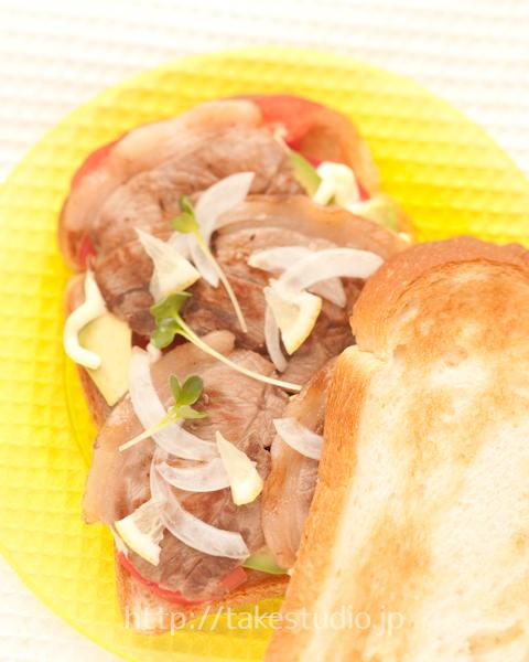しし肉のトーストサンドイッチ