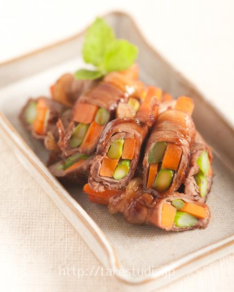 しし肉の野菜巻き