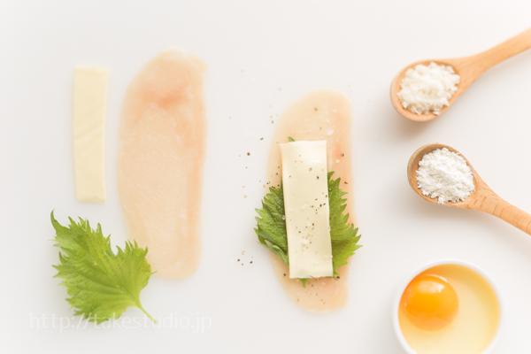 大和肉鶏のロールカツ(材料)