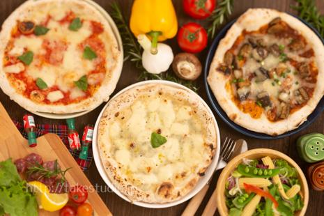 3種類のピザ