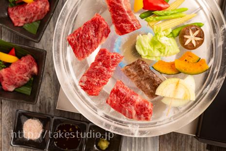 水晶プレート焼き肉