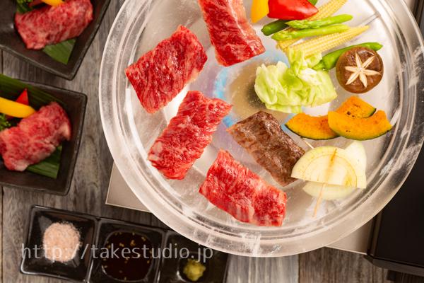 水晶板で焼き肉